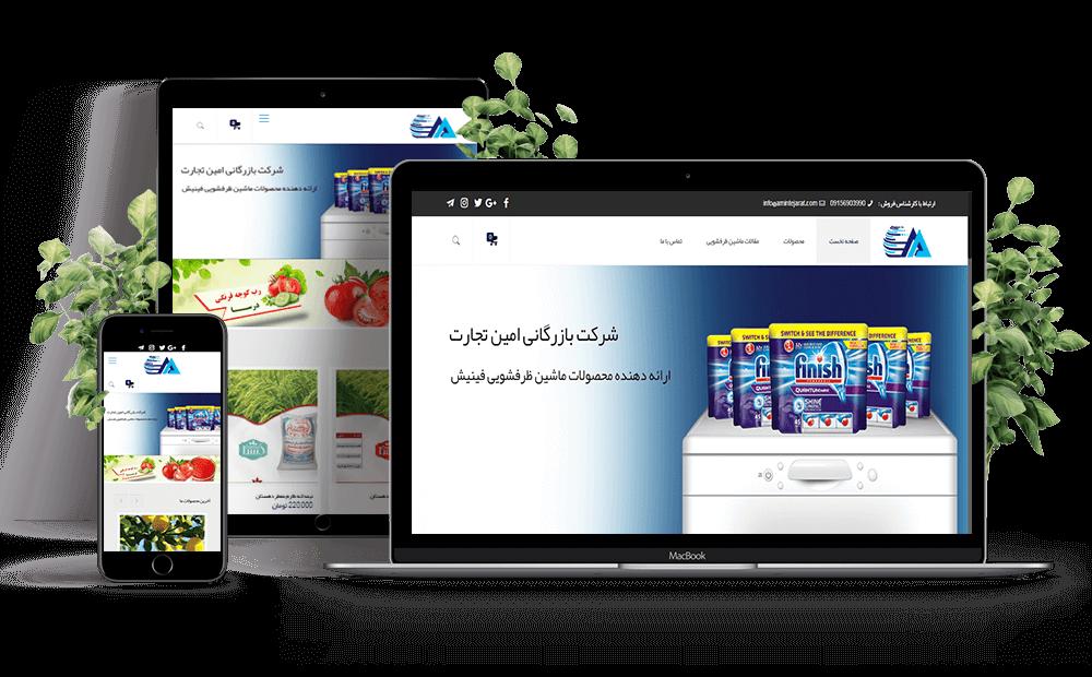 طراحی سایت در مشهد , طراحی سایت امین تجارت