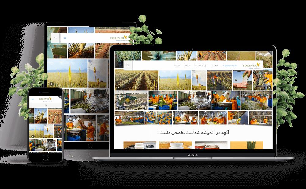 طراحی سایت شرکتی فوراور لیوینگ در مشهد