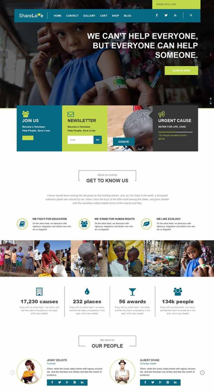 هزینه طراحی سایت خیریه