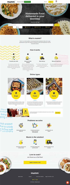 هزینه طراحی سایت غذای خانگی