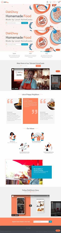 مزایای طراحی سایت غذای خانگی