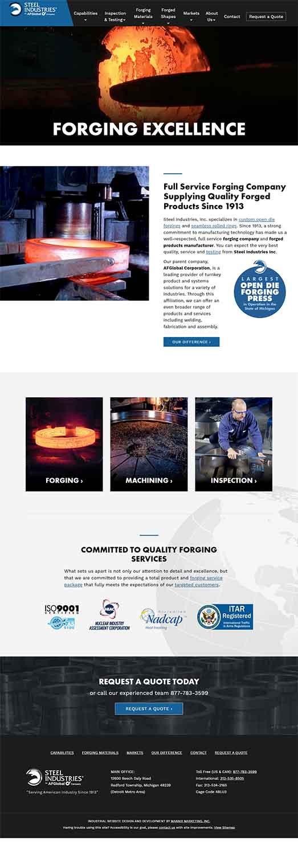 مزایای طراحی سایت صنعتی