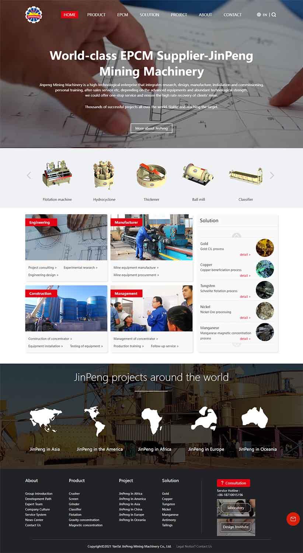 مزایای طراحی سایت معادن