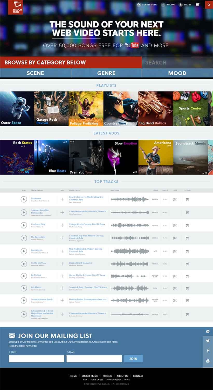 مزایای طراحی سایت موسیقی