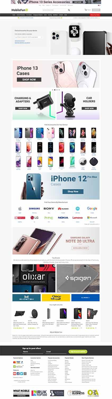 هزینه طراحی سایت فروشگاه لوازم موبایل
